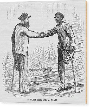 Civil War: Black Troops Wood Print by Granger