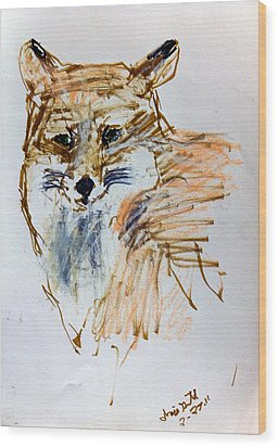 Untitled Wood Print by Iris Gill