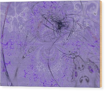 1123 Lavender And Grapes Wood Print by Scott Bishop