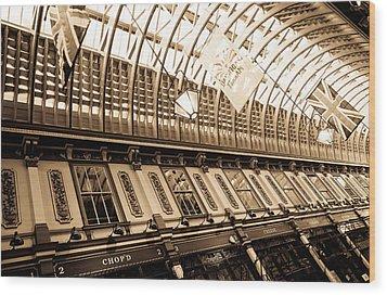 Leadenhall Market London Wood Print by David Pyatt