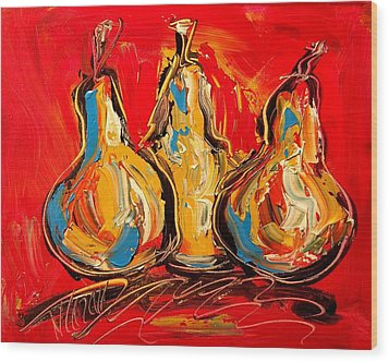 Pears Wood Print by Mark Kazav