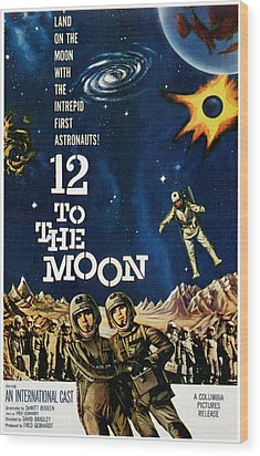 12 To The Moon, 1960 Wood Print by Everett