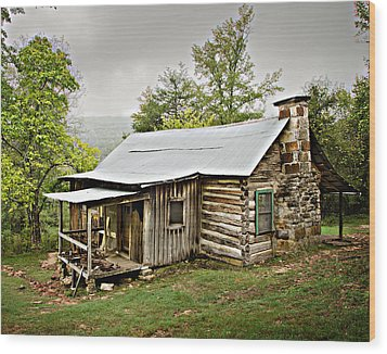 1209-1144 Historic Villines Homestead Wood Print by Randy Forrester