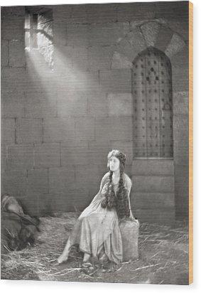 Silent Film Still: Woman Wood Print by Granger