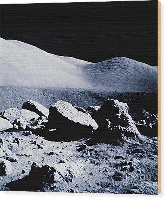 Apollo Mission 17 Wood Print by Nasa