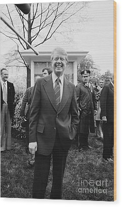 Jimmy Carter (1924- ) Wood Print by Granger