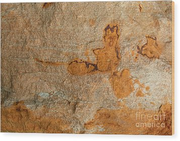 Natures Rock Art Wood Print by Jack R Brock