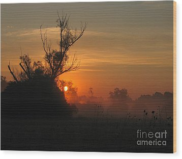 Sunset Wood Print by Odon Czintos