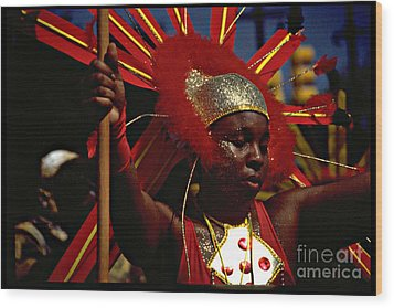 West Indian Day Parade Brooklyn Ny Wood Print by Mark Gilman