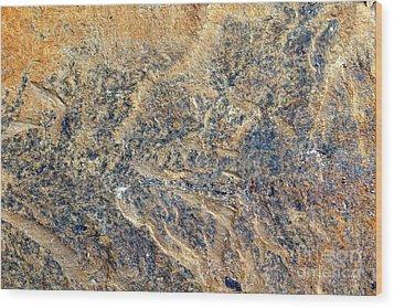 Natures Rock Art Wood Print by Jack R Brock