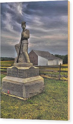 149th Pennsylvania Infantry Wood Print by Dave Sandt