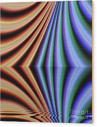Fractal Reflection Wood Print by Odon Czintos