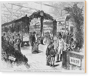 Centennial Fair, 1876 Wood Print by Granger