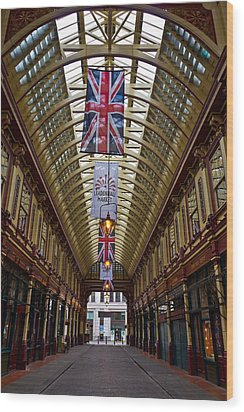 Leadenhall Market London Wood Print by David Pyatt