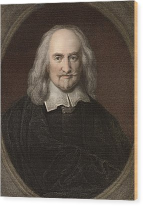 1660 Thomas Hobbes English Philosopher Wood Print by Paul D Stewart