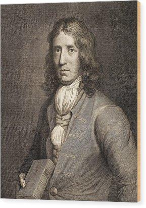 1698 William Dampier Pirate Naturalist Wood Print by Paul D Stewart