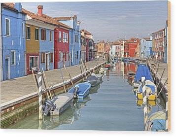 Burano Wood Print by Joana Kruse