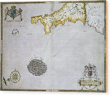 Spanish Armada, 1588 Wood Print by Granger