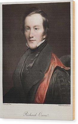 1841 Richard Owen Coined 'dinosaur' Wood Print by Paul D Stewart