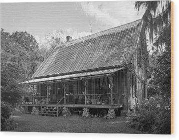 1850's Florida Cracker Farmhouse Wood Print by Lynn Palmer