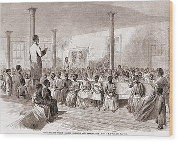 1866 Classroom Of Zion School Wood Print by Everett