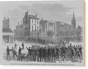 1866 Race Riot In New Orleans Was One Wood Print by Everett