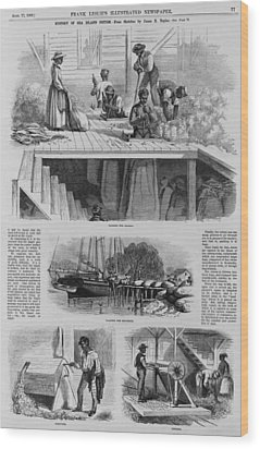 1869 Illustration Show Ex-slaves, Now Wood Print by Everett