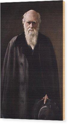 1881 Charles Darwin Portrait Aftr Collier Wood Print by Paul D Stewart