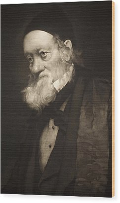 1889 Sir Richard Owen Portrait Old Age Cu Wood Print by Paul D Stewart