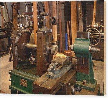 18th Century Machine Shop Wood Print by Judi Quelland