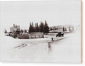 1900 Farm Wood Print by Marcin and Dawid Witukiewicz