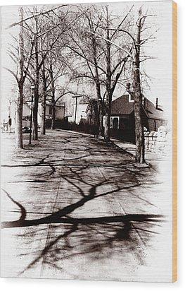 1900 Street Wood Print by Marcin and Dawid Witukiewicz