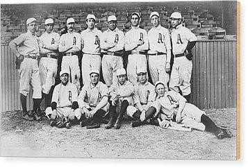 1902 Philadelphia Athletics Wood Print by Bill Cannon