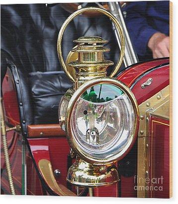 1907 Stanley Steamer - Lantern Wood Print by Kaye Menner