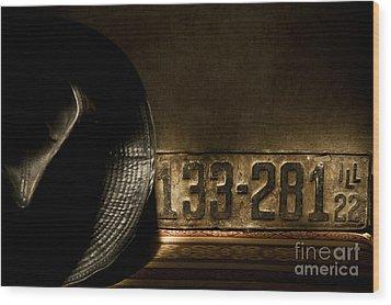 1922 License Wood Print by Ron Hoggard