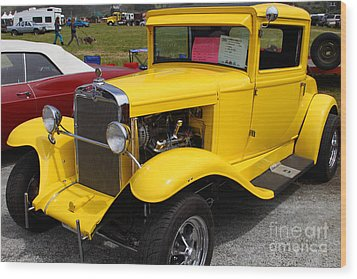 1929 Chevrolet Coupe 7d15140 Wood Print by Wingsdomain Art and Photography