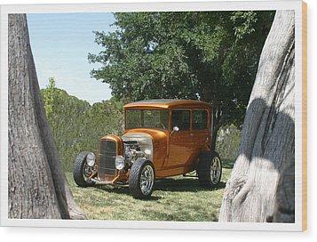 1929 Ford Butter Scorch Orange Wood Print by Jack Pumphrey