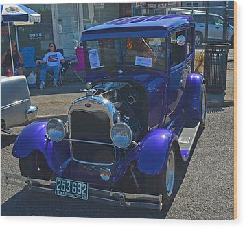1929 Ford Model A Wood Print by Tikvah's Hope