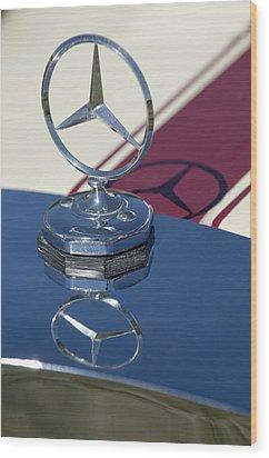 1929 Mercedes-benz Gazelle Touring Hood Ornament Wood Print by Jill Reger