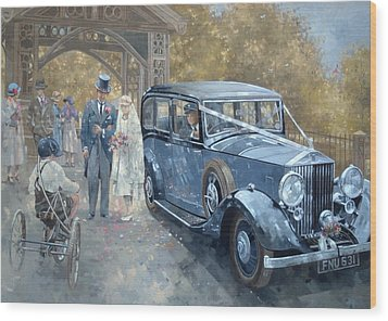 1930s Country Wedding  Wood Print by Peter Miller