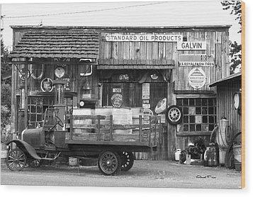 1930's Gas Station Wood Print
