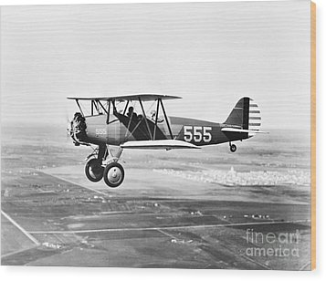 1930s Pilot Training Wood Print by Omikron