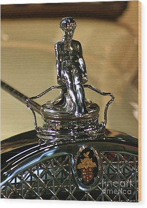 1931 Packard Hood Ornament Wood Print by Deborah  Smith