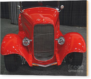 1932 Ford Roadster . Red . 7d9286 Wood Print by Wingsdomain Art and Photography