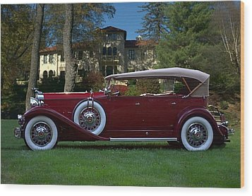 1932 Packard 903 Deluxe Eight Sport Phaeton Wood Print by Tim McCullough