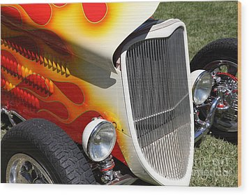 1933 Ford Roadster With Flames . 5d16237 Wood Print by Wingsdomain Art and Photography