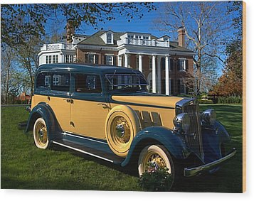 1933 Hupmobile Model K321 Sedan Wood Print by Tim McCullough