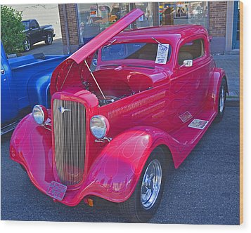 1934 Chevy Coupe Wood Print by Tikvah's Hope