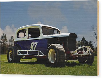 1934 Ford Stock Car Wood Print by Bill Cannon