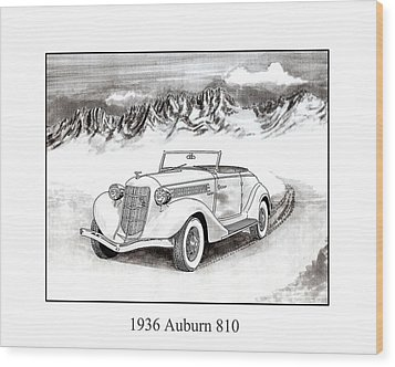 1936 Auburn 810 Wood Print by Jack Pumphrey